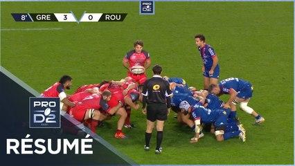 PRO D2 - Résumé FC Grenoble Rugby-Rouen Normandie Rugby: 21-15 - J10 - Saison 2020/2021