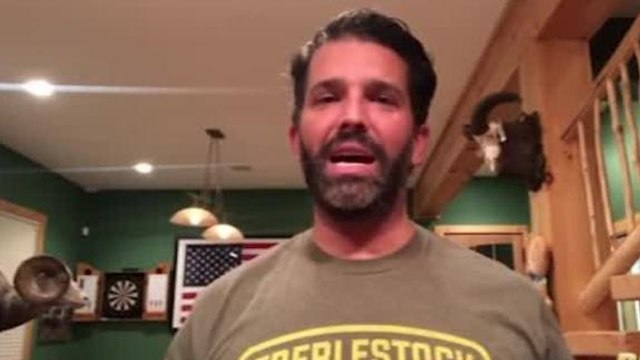 Donald Trump Jr. speaks after testing positive for Covid-19
