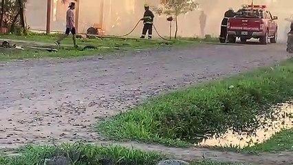 Incendio en el barrio 10 de Mayo de Resistencia por un supuesto homicidio