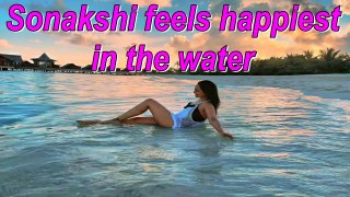 Sonakshi Sinha feels happiest in the water | Sonakshi's Maldives vacay