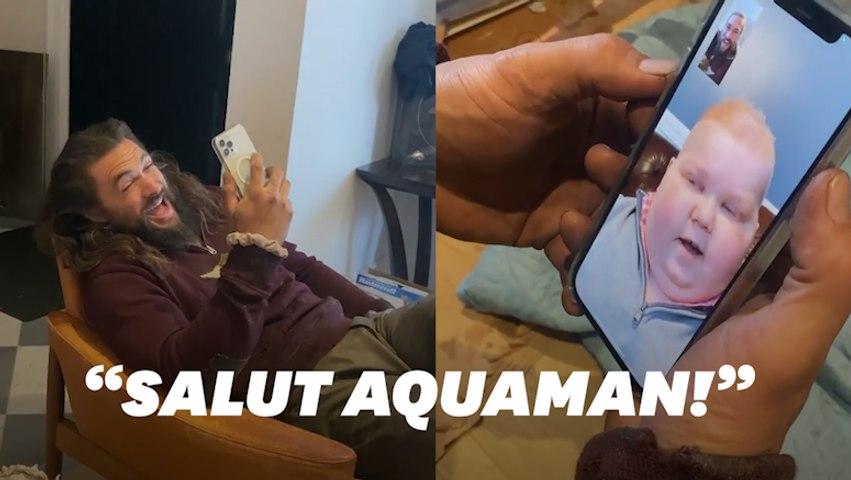 La belle surprise de Jason Momoa à ce jeune fan d'Aquaman atteint d'un cancer