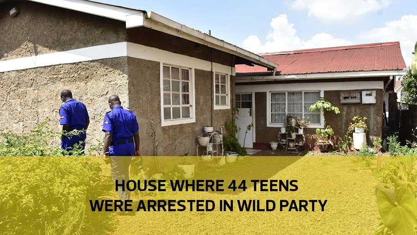 House where 44 teens were arrested in wild party