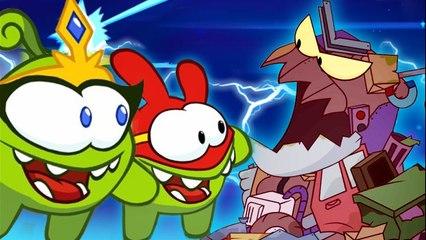 Om Nom Stories: Super-Noms - Trash monster - Funny cartoons for kids
