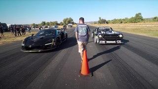 VÍDEO: los 1400 CV del Mustang Hoonicorn de Ken Block vs McLaren Senna Merlin de 800
