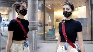 Ananya Pandey एयरपोर्ट पर दिखीं कुछ इस तरह; कहां चली Ananya ? | FilmiBeat