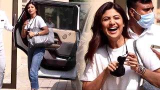 Shilpa Shetty Snapped at Shabir Khan Office Andheri | FilmiBeat