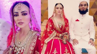 Sana Khan ने शेयर किया अपना वलीमा लुक, फैंस ने की चांद से तुलना | FilmiBeat