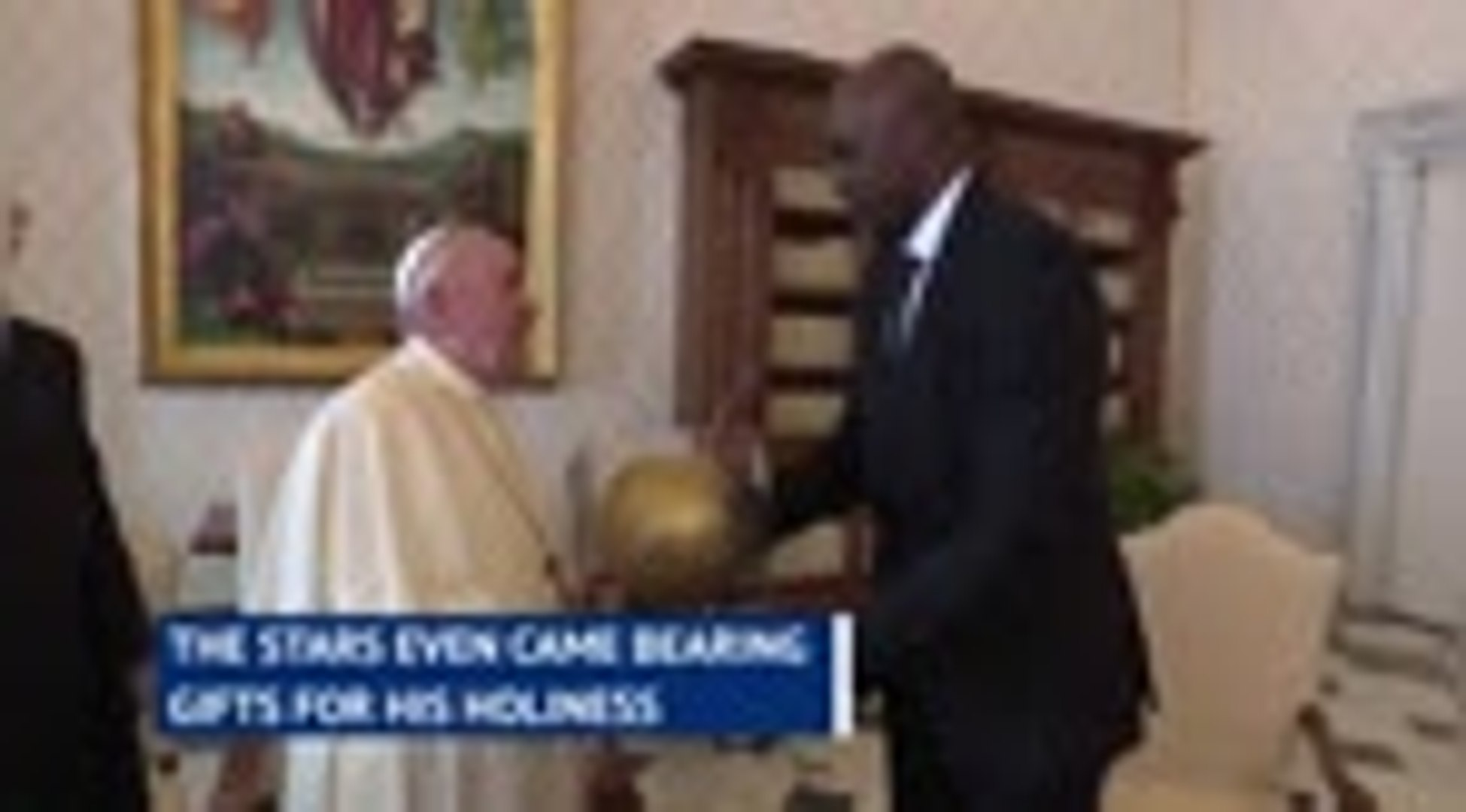 Pope meets NBA players to discuss social justice activism