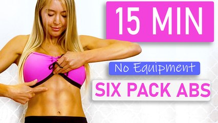 15 Minute QUICK Six Pack ABS Workout, Burn Belly Fat   No Equipment