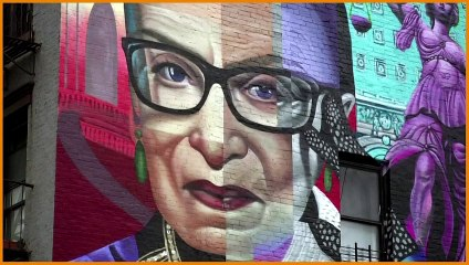 Ruth Bader Ginsburg mural unveiled in New York