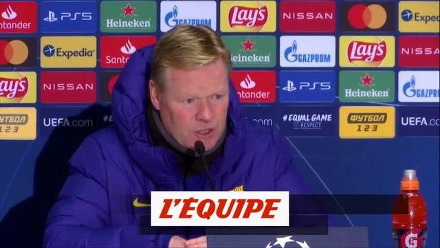Koeman : « C'est l'image que l'on veut voir du Barça » - Foot - C1 - Barça