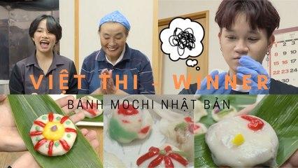 VIỆT THI & WINNER - Thử thách làm bánh Mochi đậu đỏ