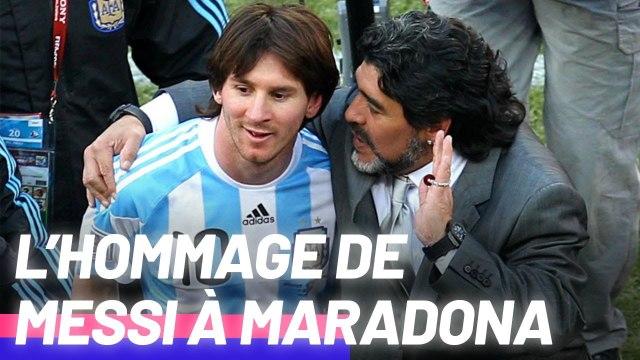 Lionel Messi rend hommage à Diego Maradona, décédé à 60 ans
