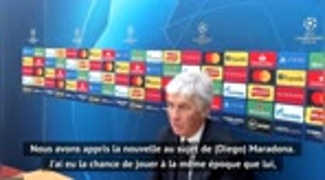 """Maradona - Gasperini : """"C'était un joueur unique"""""""