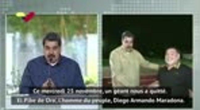 Maradona - L'hommage du président vénézuélien Maduro