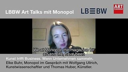 Art Cologne Talk: Wolfgang Ullrich and Thomas Huber