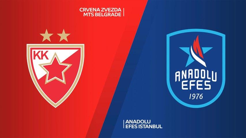 Crvena Zvezda mts Belgarde - Anadolu Efes Istanbul Highlights | EuroLeague, RS Round 11