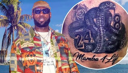 Kobe Bryant- 7 Celebrities who got Tattoos to honor Kobe & Gianna Bryant