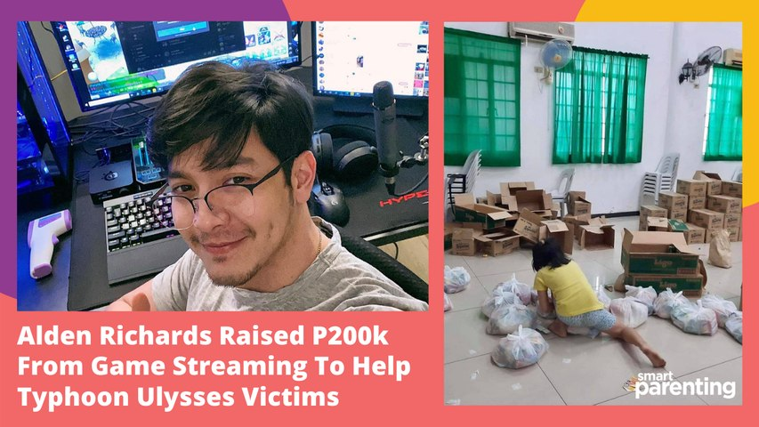 Alden Richards Raised P200k From Game Streaming To Help Typhoon Ulysses Victims