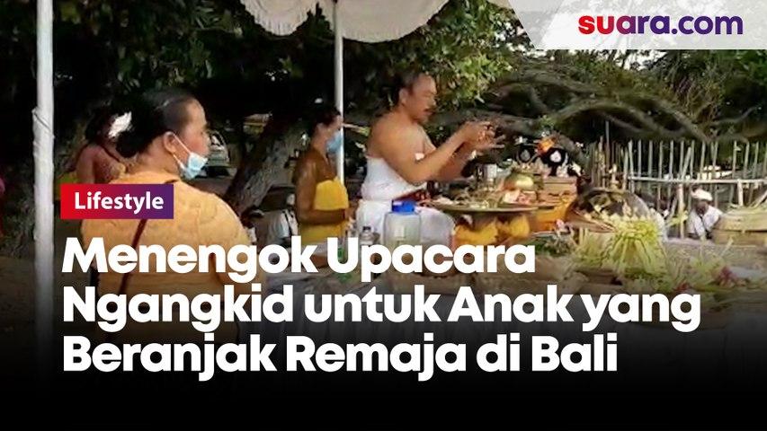 Menengok Upacara Ngangkid untuk Anak yang Beranjak Remaja di Bali