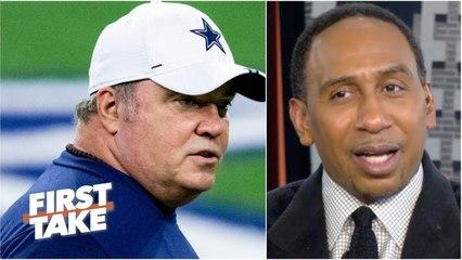 FIRST TAKE   Stephen A mocked Dallas Cowboys fall to Washington Football: McCarthy liability for DAL