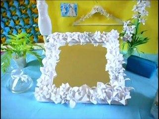Mirror Flower Frame - Make a Mirror with paper Flower decoration