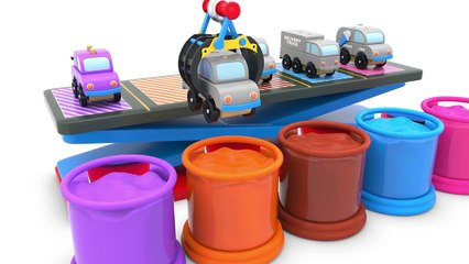 Learn Colors with Street Vehicles - Educational Videos - Toy Cars for Kids