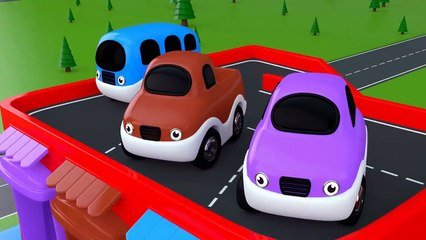 Learning Colors for Children with Toy Street Vehicles Parking - Toy cars for KIDS