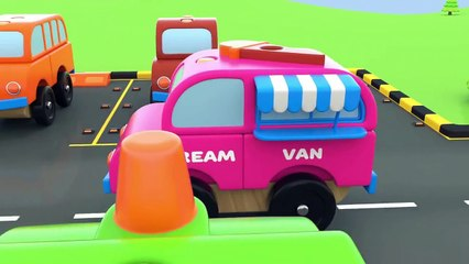 Colors for Children to Learn with Toy Street Vehicles Parking - Educational Videos
