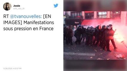 Dans un contexte de crise politique, des milliers des manifestants en France contre une loi sécuritaire