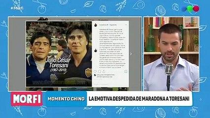 La despedida de Maradona a Toresani