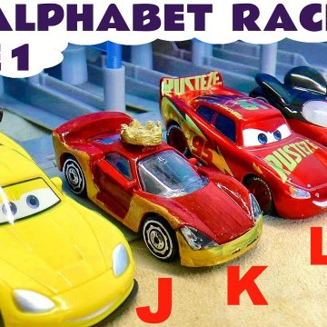 1st Alphabet Race with Hot Wheels versus Disney Pixar Cars 2 Lightning McQueen in this Learn English Family Friendly Funny Funlings Race Full Episode English Toy Story for Kids from Kid Friendly Family Channel Toy Trains 4U