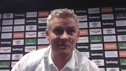 """""""We had to stay composed"""" Solskjaer's verdict on West Ham 1:3 win"""