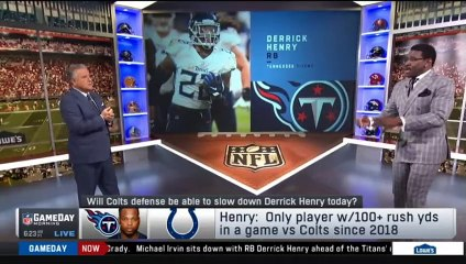 Michael Irvin goes crazy Indianapolis Colts vs Tennessee Titans: Battle for AFC South supremacy