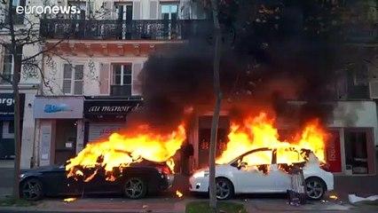 اعتراض پاریسیها به قانون امنیتی؛ ۶۰ پلیس زخمی و ۸۱ نفر بازداشت شدند