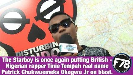 F78NEWS: Wizkid threatened Tinie Tempah & Disturbing London
