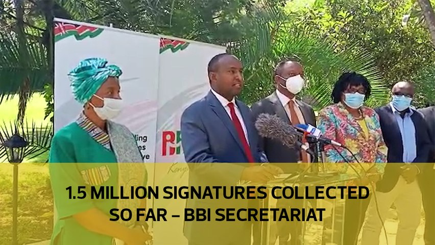 1.5 million signatures collected so far - BBI secretariat