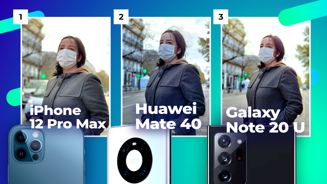 Huawei Mate 40 Pro vs iPhone 12 Pro Max vs Galaxy Note 20 Ultra ! QUI EST LE ROI DE LA PHOTO ?