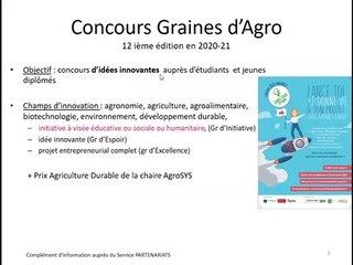 Tout savoir sur le concours Graines d'Agro
