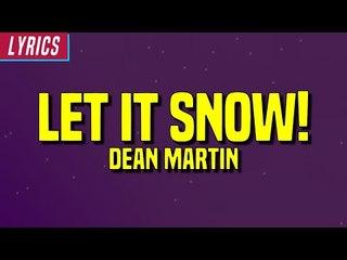 Dean Martin - Let It Snow! (Lyrics)