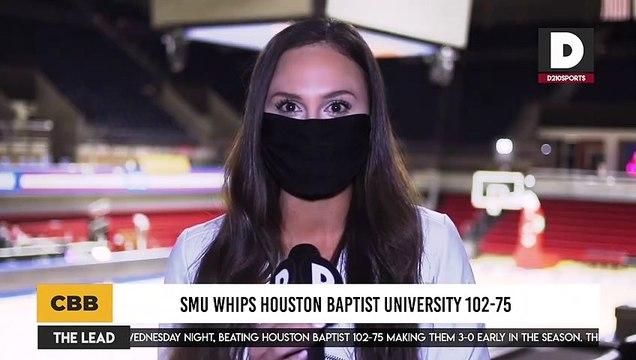 SMU Whips Houston Baptist University 102-75