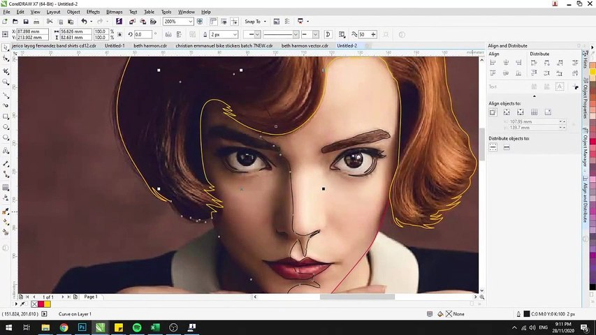 Anya Taylor-Joy, Simple Vector SpeedArt using CorelDraw X7 - Video Dailymotion