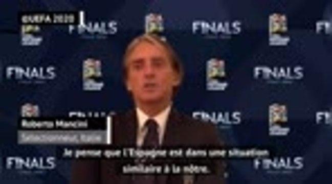 """Italie - La demie contre l'Espagne sera """"imprévisible"""", selon Mancini"""