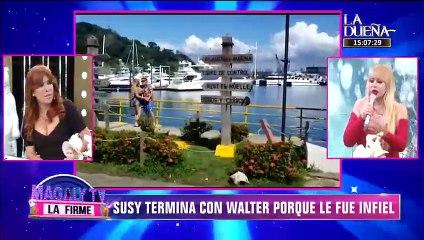 Susy Díaz termina con Walter Obregón tras ampay con otra mujer
