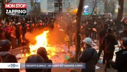 Vitrines cassées, voitures brûlées... 400 à 500 casseurs ont infiltré la manifestation à Paris (Vidéo)