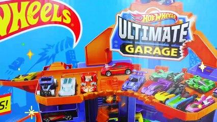 Vlad and Niki pretend play Ultimate Garage - Hot Wheels City
