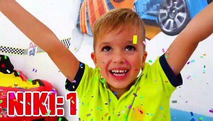 Vlad and Niki play with RC Toy Cars & Robots