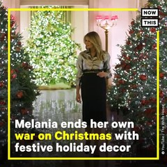 Melania Trump Unveils White House Christmas Decorations _ NowThis