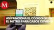 Metro de CdMx coloca registro con Código QR en estaciones y trenes de Línea 2 por covid-19