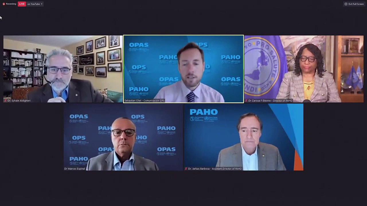 LIVE – The WHO and PAHO give an update on COVID-19 in the Americas